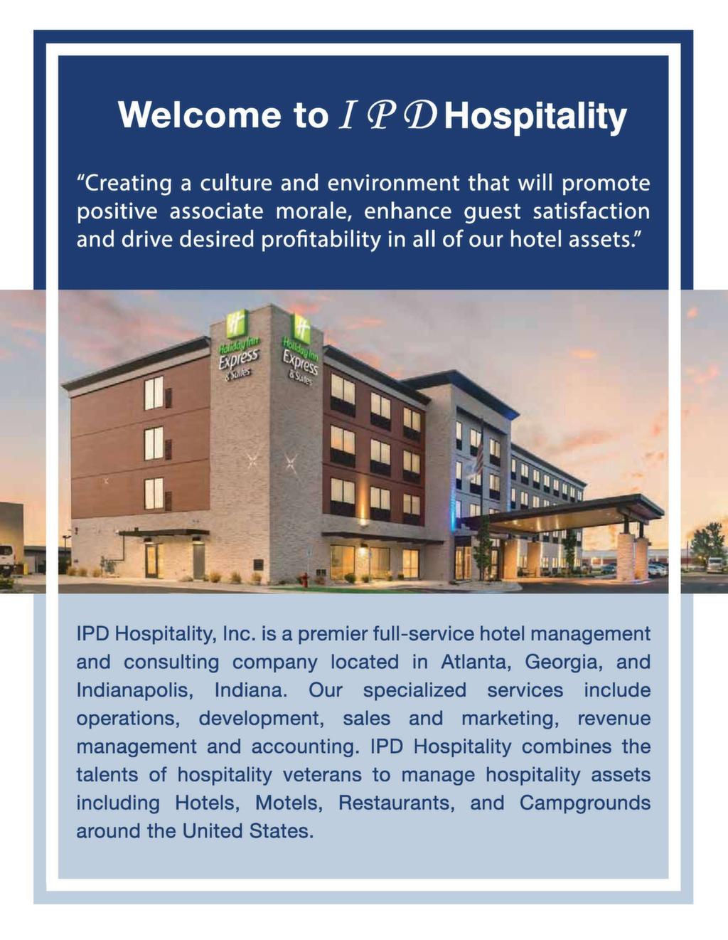 IPD Hospitality E-Brochure | IPD Hospitality